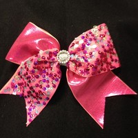 Multi-pink sequin : GLITZ Cheer BowZ, Custom Products From Your Head To Your Toes