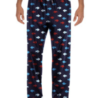 Tommy Hilfiger Men's Fish Print Woven Pajama Bottoms