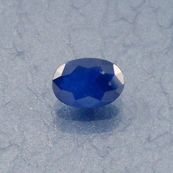 Sapphire: 0.77ct Blue Oval Shape Gemstone, Natural Hand Made Faceted Gem, Loose Precious Corundum Mineral, OOAK Crystal Jewelry Supply 10166