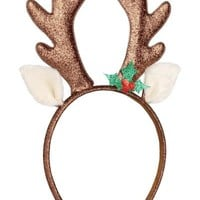 Hairband with Horns - Brown/glitter - | H&M CA