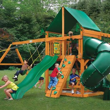 Gorilla Playsets Mountaineer Deluxe Wooden Swing Set
