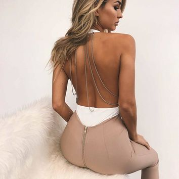 Martina backless chain bodysuit