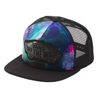 Vans Beach Girl Galaxy Trucker Hat (Galaxy Nubula/True White)
