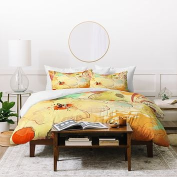 Irena Orlov Exotic Flowers Duvet Cover