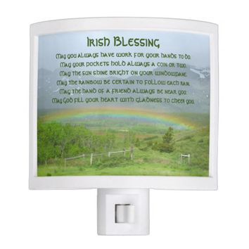Irish Blessing Rainbow Photo Night Lights