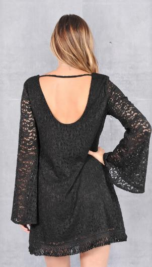 53aec774d04 Midnight Imagination Bell Sleeve Lace from DebrasPassionBoutique.