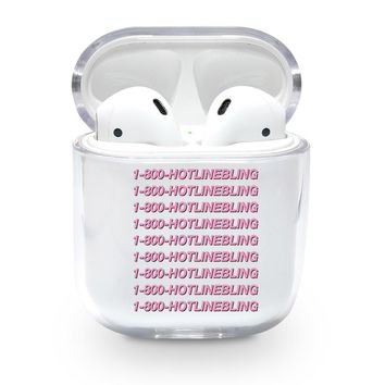 Clear Hotline Bling Airpods Case