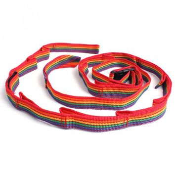 2018 new Camping Tent Rope Lanyard Colorful Rainbow Cup Lamp Hanging Outdoor Clothesline Daisy Chain