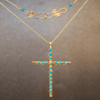 Necklace 303 - choice of stone - GOLD