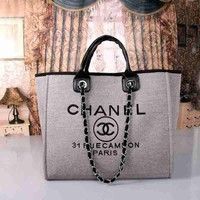 CHANEL Women Shopping Bag Leather Handbag Satchel Shoulder Bag Crossbody