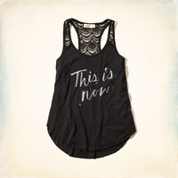 This Is Now Lace Graphic Tank
