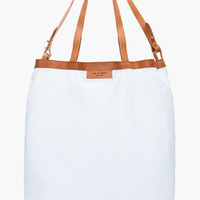 Rag & Bone Off-white Collapsible Market Tote for women | SSENSE