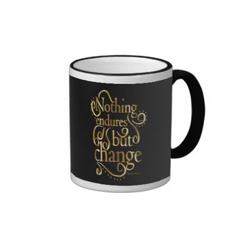 Change Inspirational Quote Ringer Coffee Mug