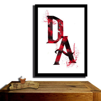 Dumbledore's Army, Harry Potter Poster, Black and Red coloured....Paint effect poster