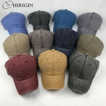 HIRIGIN Solid Distressed Vintage Cotton Polo Style Baseball Ball Cap Hat 100% Cotton NEW Casquette