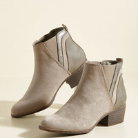 Portland by Morning Bootie in Taupe | Mod Retro Vintage Boots | ModCloth.com