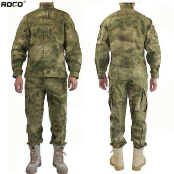 ROCOTACTICAL FG A-Tacts Military Suit Includes Tactical Jacket & Tactical Pants & Tactical Bonnie US Army USMC BDU for Paintball