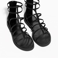 & Other Stories | Gladiator Strap Sandals | Black