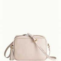 Ivory Madison Crossbody | Pebble Grain Leather | GiGi New York