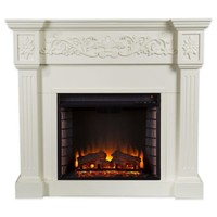 Calvert Electric Fireplace in Ivory