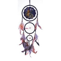 "20"" Long Wolf & Maiden Dream Catcher"