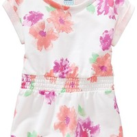Floral Loop-Terry Dresses for Baby