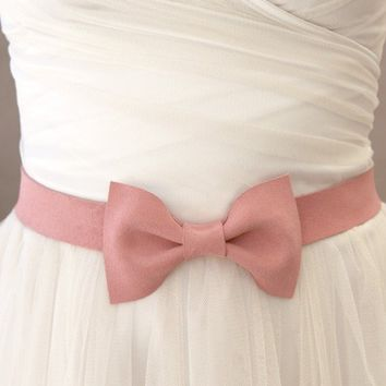 Ballerina Pink Bow Belt by darlingtonia on Etsy