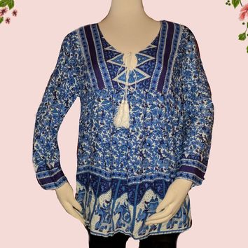 Chelsea and Violet  top - vibrant colors! -  size  x-small