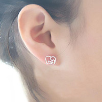 accessoryinlove — Cute 925 Sterling Silver Elephant Studs