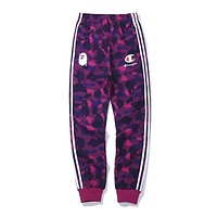 BAPE x Champion Fashion Casual Simple Pants Trousers