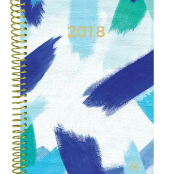 2018 Blue Strokes Daily Planner, Blue