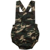 Baby Summer Camo Sunsuit