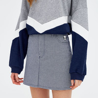 Gingham mini skirt - pull&bear