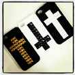 Custom Studded Cross Cases - For Galaxy S3 - SOFT Case