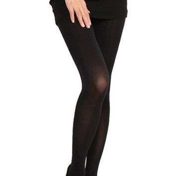 Fashion Women Girls Sexy Tights Double Stripe Velvet Stocking Solid Color Knee High Hosiery Pantyhose Panty Hose Tights