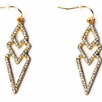 Delicate Diamond Drop Earrings
