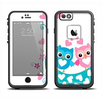 The Pink & Blue Vector Love Birds Apple iPhone 6 LifeProof Fre Case Skin Set