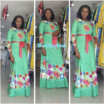 African Dresses For Women Real Polyester African Dress 2017 New Fashion Style Women Dress