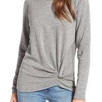 Stateside Front Twist Fleece Sweatshirt | Nordstrom
