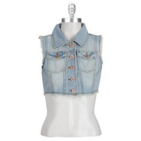 Highway Jeans Juniors Cropped Denim Vest at Dry Goods