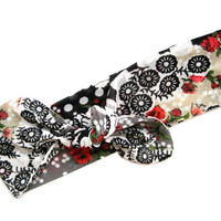 Floral Hair Wrap Dolly Bow Bandana Headband Head Wrap Hair Accessory Teen Hair Accessory Holiday Gift Ready To Ship