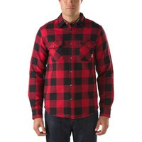 Vans Hixon Buffalo Plaid Flannel Shirt (Black/Chili Pepper)