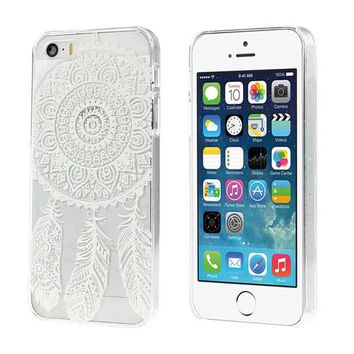 Dream Catcher Pattern Transparent Hard Case Cover for iPhone 5 5G 5S