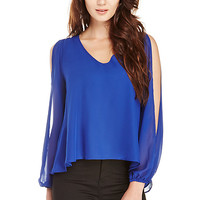 DailyLook: Lovers + Friends Daydream Blouse in Royal blue XS - M
