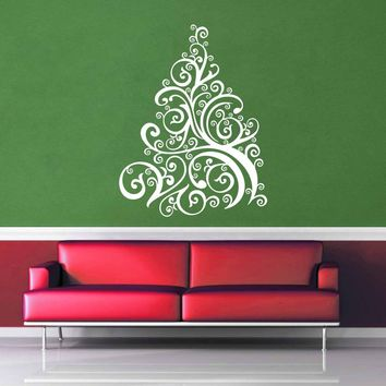 Swirl - Christmas Tree - Wall Decal$19.95