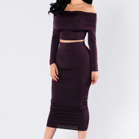 Love Won't Let Me Wait Skirt - Plum