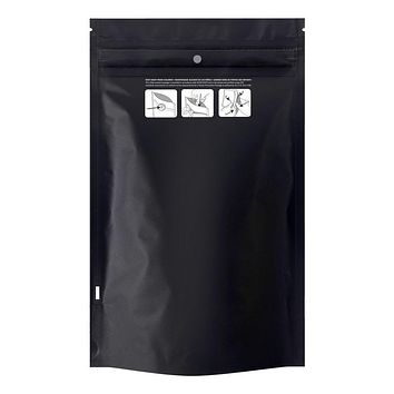 "Child Resistant Exit Bag (9.5"" x 6"") Black & White"