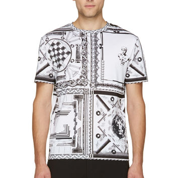 Versus Black And White Anthony Vaccarello Edition T-shirt