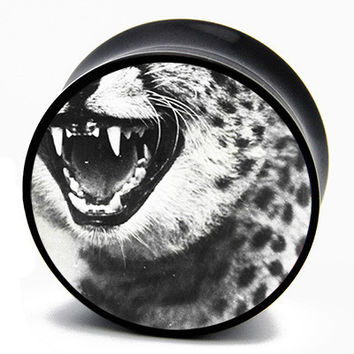 Grunge Leopard Fangs BMA Plugs (2mm-60mm)