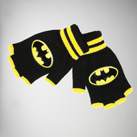 Batman Logo Fingerless Gloves